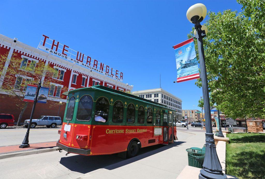 Cheyenne Street Railway Trolley in Downtown Cheyenne