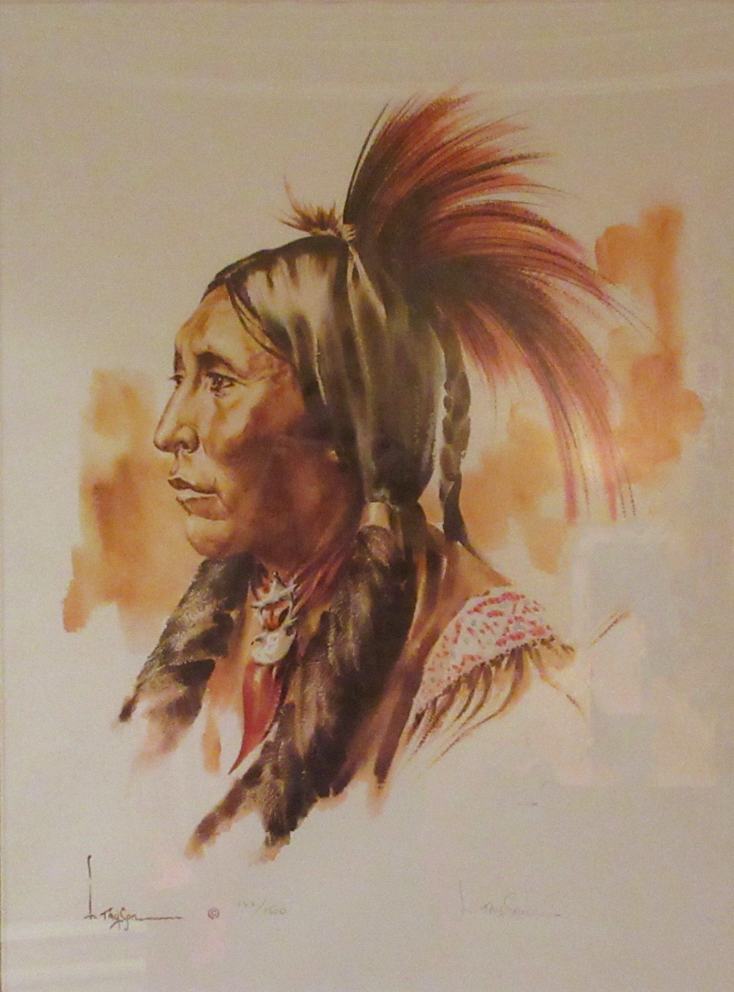 Two Hatchet - Kiowa Warrior and Sub Chief - Lyle Tayson